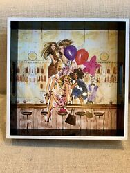 Henri Bendel New York Nyc Party Girls Lacquer Cocktail Tray - New