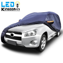 Heavy Duty Waterproof Full Car Cover Universal Suv Fits All Weather Protection