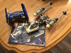Lego Tie Fighter And Y Wing-100 W/minifigures And Instructions And Box