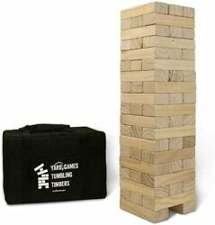 Giant Tumbling Timbers Toppling Tower Game Set Case Outdoor Table Wood Blocks