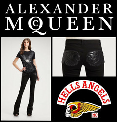 Alexander Mcqueen A/w 2010 'angels And Demons' Winged-skull Jeans, Us6 It42