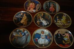 Lot 8 Norman Rockwell Collectors Plates Form His Rediscovered Women Collection