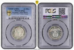 Germany Medal 1938 1989 Pcgs Sp66 C-409 Third Reich 2 Reichsmark Size Medal