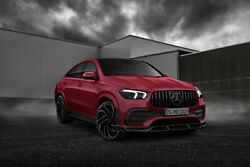 Front Lip Splitter For Mercedes Benz Gle X167 Coupe 2019 - 2021 Renegade Design