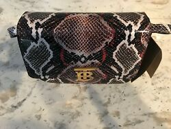 BURBERRY Small Python Print Leather TB Bag Brand NEW and Authentic New NO BOX $799.00