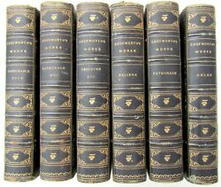 Lot Of 6 Antique 1874 Decorative Bindings 19th Century Books By Maria Edgeworth