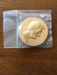 Abraham Lincoln Bronze Medal 3 Inch Us Mint Treasury Immaculate Condition