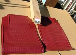 1981 1982 Chevy C K Truck Nos Accessory 996936 Carmine Twin Front Floormats