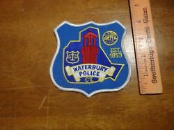 Waterbury Connecticut Police Department Patch Bx 115
