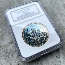✪ 1971 Canada 1 Dollar Silver Coin One Ngc Sp 67 - Rainbow Blue Toning