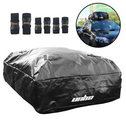 15 Cubic Rooftop Cargo Carrier Waterproof Car Top Carriers For Car Suv W/ Straps