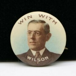 J5y Whitehead And Hoag Win With Woodrow Wilson Presidential Political Pinback
