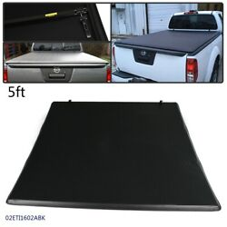 3-fold Soft Tonneau Cover Fit For 2005-19 Nissan Frontier Truck 5ft Short Bed Us