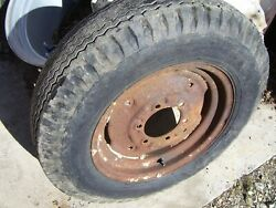Vintage Minneapolis Moline Zau Tractor - Front Wheel And Tire -600 X 16- 1949