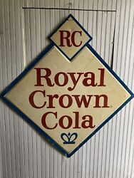 Vtg Royal Crown Cola Soda Sign Country Farmhouse Rc General Store Advertising