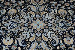 C1930s Antique Detailed Design Room Size Keshan Rug 9and039 9 X 13and039 Kurk Woolsigned