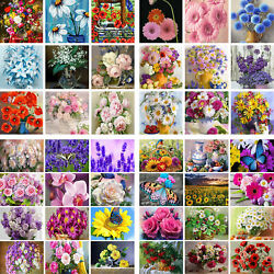 5d Full Drill Diamond Painting Colorful Plants Cross Stitch Kit Embroidery Diy