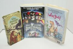 Lot Of 3 Family Vhs Mighty Morphin Power Rangers, We're Back, Jungle Book