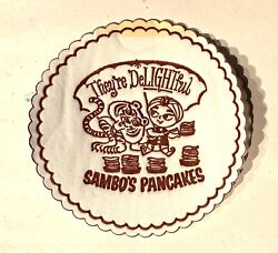 Sambos Pancakes They're Delightful Restaurant Coffee Cup Coaster