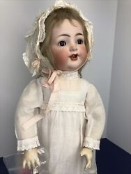20andrdquo Antique German Simon And Halbig K Star R 126 Toddler Bisque And Compo Doll Sc5