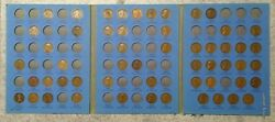54 Coin 1909 - 1940 Lincoln Wheat Cent Album - Early Dates Collection 201