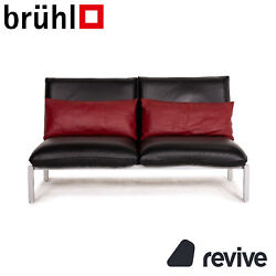 Brühl And Sippold Roro Leather Sofa Black Two Seater Function Relaxfunktion Couch
