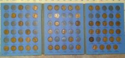 55 Coin 1909 - 1940 Lincoln Wheat Cent Album - Early Dates Collection 199