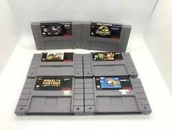 6 Snes Game Lot Jurassic Park, Pinball Dreams And More Authentic Cartridges