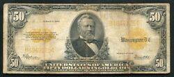 Fr. 1200 1922 50 Fifty Dollars Gold Certificate Currency Note