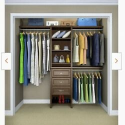 Closetmaid Impressions 5andrsquow-10andrsquow Chocolate Brown Wood Closet System Nib 565