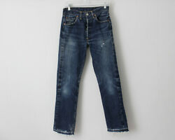 Vintage 1960's Levi's 501 Jeans Big E 28 X 29.5 Distressed Made In The Usa