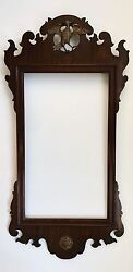 An Antique American Chippendale Parcel Gilt Mahogany Mirror Frame