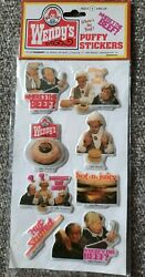 Vintage Wendy's Puffy Stickers Clara Peller Where's The Beef Hot Stuffed