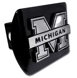 Michigan Wolverines Black Metal Hitch Cover [new] Ncaa Trailer Cap Truck