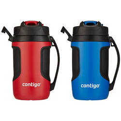 2 Contigo Auto Spout Jug Blue Red Sports Camping Outdoor Water Drink Bottle 1.9l