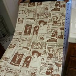 Vintage Barber Shop Hygiene Grooming Wall Paper Contact Paper