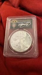 2017 W Proof Silver Eagle Pcgs Pr70 Dcam Cleveland Torch First Striketruly Rare
