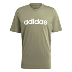Menand039s Crew-neck Military Green Adidas Essentials Embroired Reg Cotton