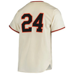 Mitchell Ness San Francisco Giants 1954 Willie Mays Home Authentic Cream Jersey