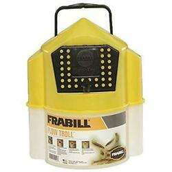 Frabill Flow Troll Bait Container 6-quart Yellow/white