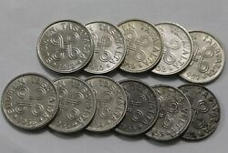 Finland 5 Markkaa Collection 1952-1962 With Rare 1953 Nickel Plated B34 Zo17