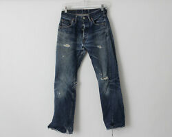 Vintage 1960's Levi's 501 Jeans Big E 27.5 X 28 Distressed Made In The Usa