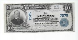 Newman Il Ch 7575 - 1902 The Newman National Bank Illinois Vf
