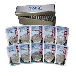 Set Of 10 2021 S Ngc Ms 70 Emergency Issue Silver Eagles 1ea From First 10 Box