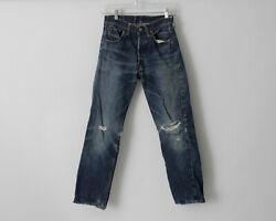 Vintage 1960's Levi's 501 Jeans Big E 26 X 28 Distressed 2 Made In The Usa