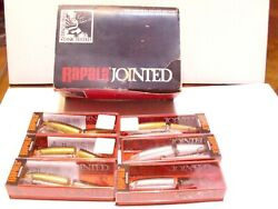 Vintage Lot Of 6 Rapala Finland Jointed J-11 4-gold 2 Silver Old Box Unfished