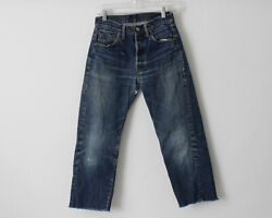 Vintage 1960's Levi's 501 Jeans Big E 27.5 X 24 6 Distressed Made In The Usa