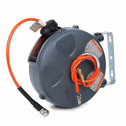 Air Hose Reel 32.8ft Retractable Wall Mounted Air Hose Reel Automatic X2y5