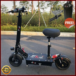 1200w Folding Electric Scooter With Seat Adults 80-120kms Range 45km/h 10 Tires
