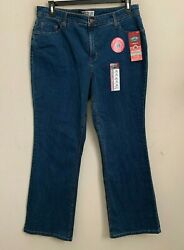 Signature By Levi Strauss Womens Jeans At Waist Bootcut Med Wash Size 18m New